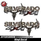 camouflage truck decals - Silverado Truck 4x4 Camo Skull Hunting Decals