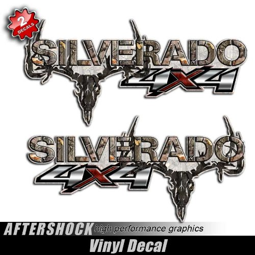 Silverado Truck 4x4 Camo Skull Hunting Decals (Truck Camo Decals)