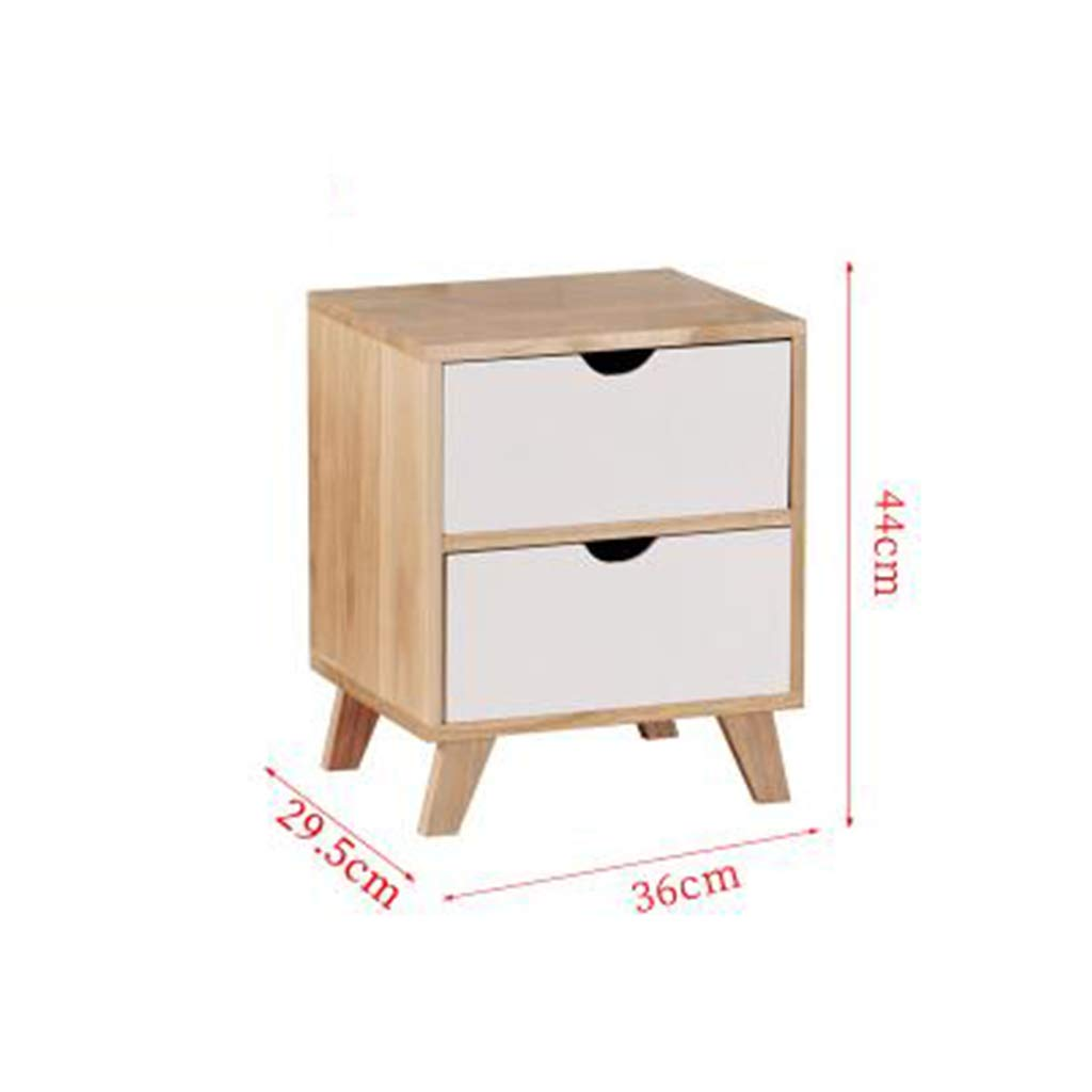 LQQGXLBedside Table Bedside Table Simple Modern with Drawer Storage Cabinet Multi-Layer Bedroom Bedside Table Small Side Table (Size : 3629.544cm) by LQQGXL