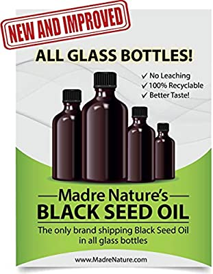 100% USDA Organic Certified Premium Black Cumin Seed Oil   GLASS BOTTLE   Darkest, Highest TQ 1.08%   Nigella Sativa   Undiluted   Cold Pressed, No Solvents   Certified Vegan, Non-GMO (8 ounce)
