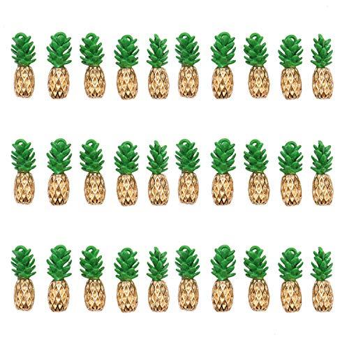 - JETEHO 30 pcs Alloy Pineapple Charm Beads Enamel Fruit Charm Slime Charms Bracelet Accessories Jewelry Making Supplies