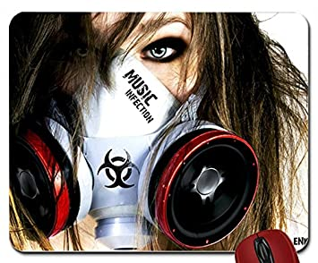Women Music Speakers Gas Masks Music Infection Enkorr 1680x1050