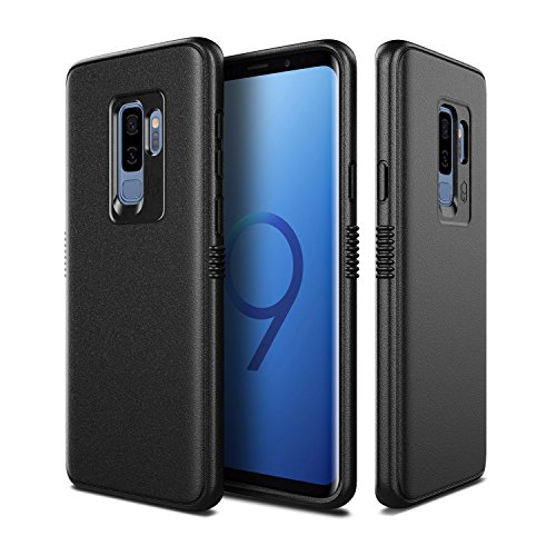 PATCHWORKS TPU PC Hybrid Dual Material Matte Extreme Grip Slim Fit with Added Air Pocket and Drop Tested Hard Case for Galaxy S9 Plus