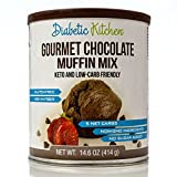 Diabetic Kitchen Muffin Mixes For Bakery Fresh Muffins That Are Low-Carb, Keto-Friendly, No Sugar Added, Gluten-Free, High-Fiber, Non-GMO, No Artificial Sweeteners (Gourmet Chocolate)