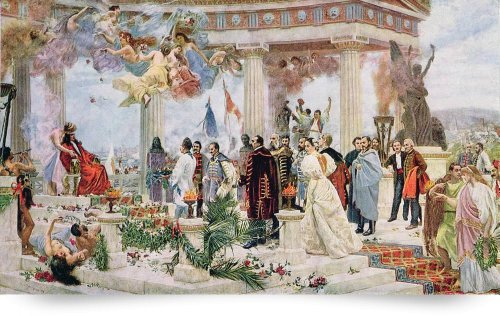 Ceremonial Curtain of the Croatian National Theatr (Giclee Art Print), The Fine Art Masters