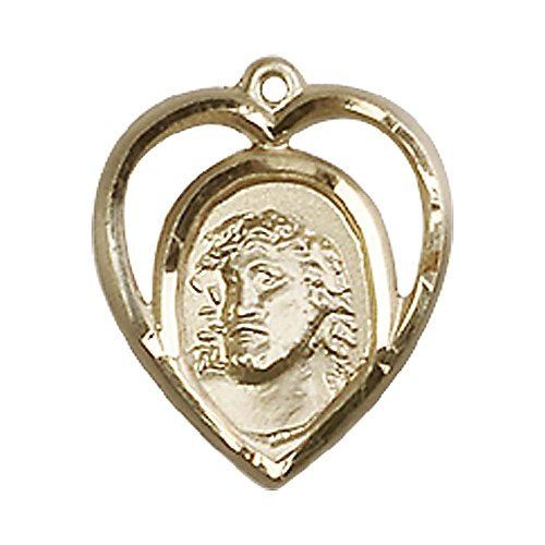 14kt Gold Ecce Homo Medal. Includes deluxe flip-top gift box. Medal/Pendant measures 5/8