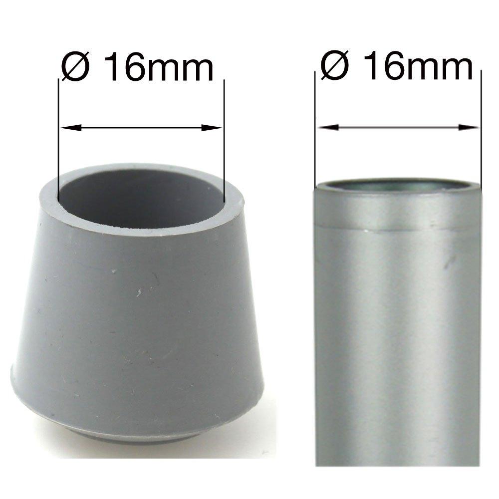 Gomma piedini per mobili puntali Caps tappi/ grigio /in diverse misure e colori by Lifeswonderful/®