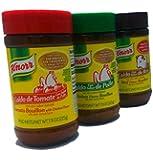 Knorr Bouillon set of 3 (7.9 oz) / Beef flavor, Chicken flavor, Tomato flavor / Caldo con sabor Res, Pollo and Tomate.