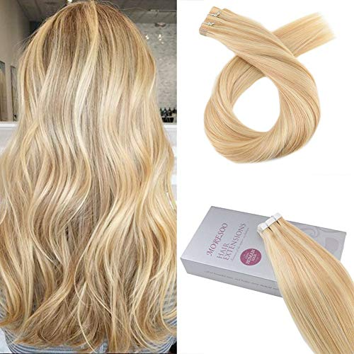 Moresoo 18 Inch Tape in Remy Hair Extensions