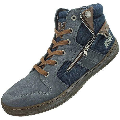 Redskins Minski CD991VZ Herren Sneaker/Freizeitschuhe/High-Top Sneakers Blau Blau