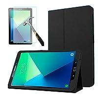 """Capa Agenda Tablet Samsung Galaxy Tab A 10.1"""" SM-P585/P580 + Película de Vidro - Preta"""