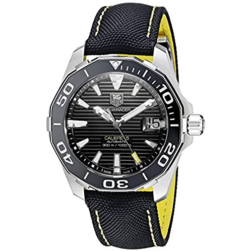 TAG Heuer Mens WAY211A.FC6362 Aquaracr Analog Display Swiss Automatic Black Watch