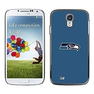 Seattle Seahawk Mínimo - Metal de aluminio y de plástico duro Caja del teléfono - Negro - Samsung Galaxy S4