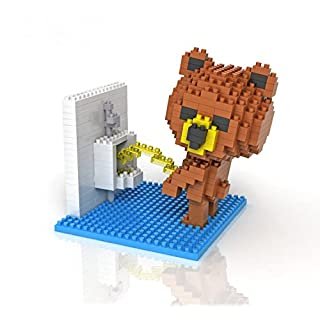Sanzo Super Cute Brown Bear - Toilet - Nano Mini Blocks DIY Educational Toys for Adults and Kids