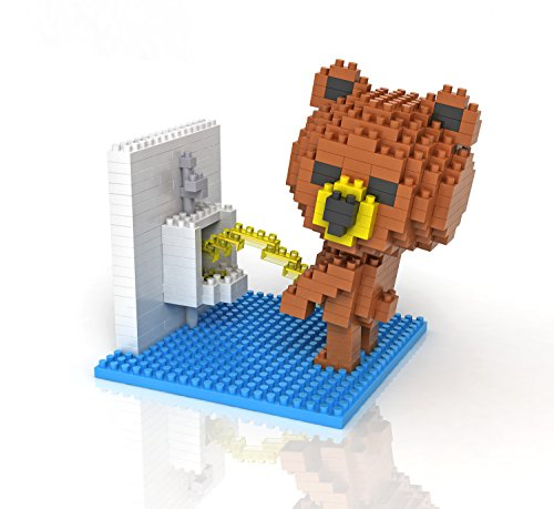 Sanzo Super Cute Brown Bear - Toilet - NanoBlocks Micro Diamond DIY  Educational Toys