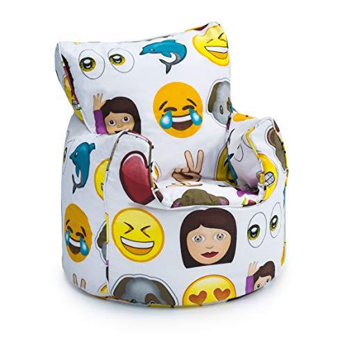 Outstanding Shopisfy Childrens Filled Printed Bean Bag Chair Emoji Machost Co Dining Chair Design Ideas Machostcouk