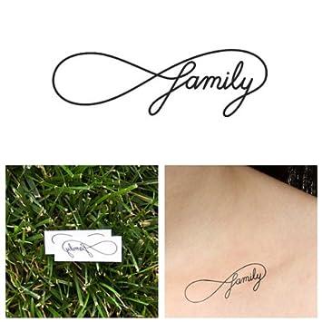 Infinity Symbol Family Temporary Tattoo Set Of 2 Amazon Beauty