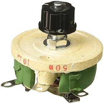 50W 10 Ohm potenciómetro Variable de cerámica de la Forma cónica Pot ...
