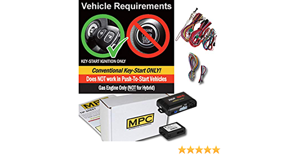 Prewired to Simplify Installation MPC Complete Remote Start Kit and Keyless Entry for 2003-2006 Chevrolet Avalanche