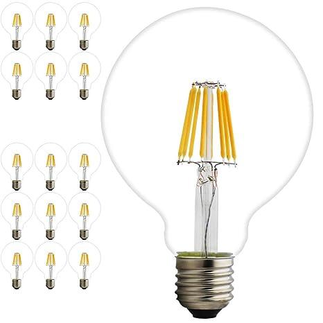 15 Pieza Edison Bombilla Retro Old Fashioned estilo tornillo LED Bombilla Regulable Deko de espiral de ...