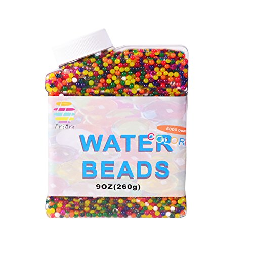 Fribro Water Beads,5000 Pcs,Water Gel Beads Pearls for Vase Filler, Swimming Pool, Home Decoration, Plants, Toys. (Multicolor) by Fribro