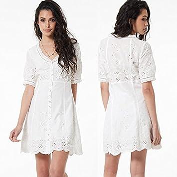 Vestido blanco encaje amazon