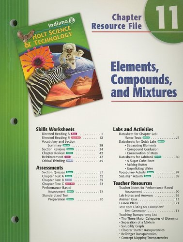 Buy Indiana Holt Science & Technology Chapter 11 Resource ...