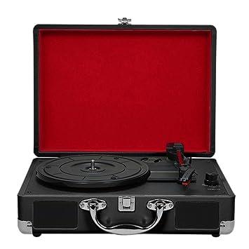 DHINGM Tocadiscos de Vinilo estéreo Retro del Registrador de 3 ...