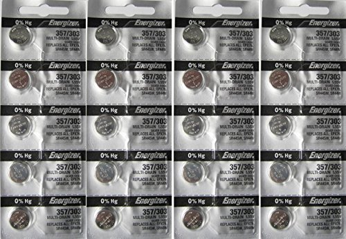 20 Energizer 357/303 Multi-Drain Zero Mercury Batteries - 303 Energizer Watch Batteries