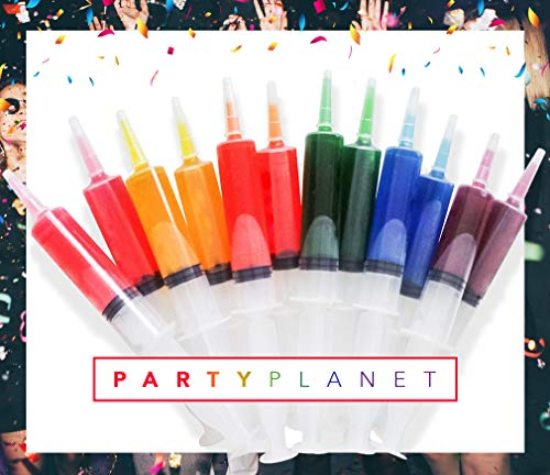 60 Pack Party Planet Jello Shot Syringes - Medium 1.5OZ with Caps - BPA FREE - PLASTIC SYRINGES - FREE PDF of The Best Jello Shots Recipes book with Purchase