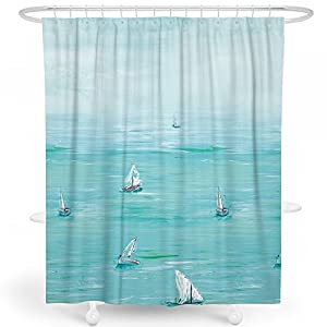 51EeAPelp7L._SS300_ 200+ Beach Shower Curtains and Nautical Shower Curtains