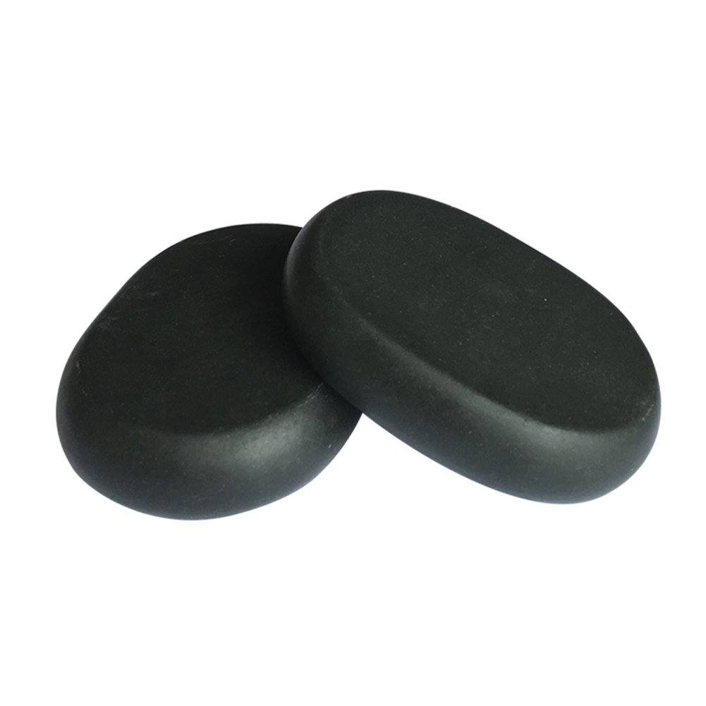 Lifetop 2pcs /lot Massage Large Stones Massage Lava Natural Stone Set Hot Spa Rock Basalt Stone (3.14 x 2.36 in)