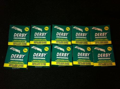 "1000 ""Derby Professional"" Single Edge Razor Blades for strai"