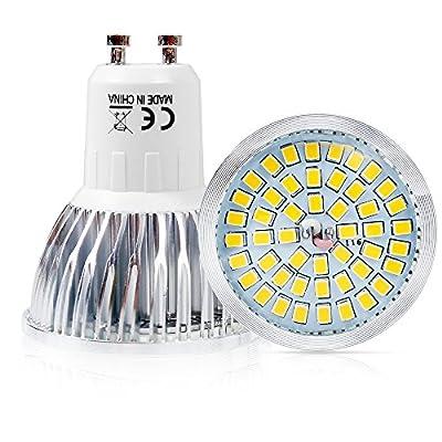 Elinkume 6W LED Gu10 light Bulb 110V ,Warm White 3000k ,120 Degree Beam Angle ,Undimmable LED Soptlight bulb (4 Pack)