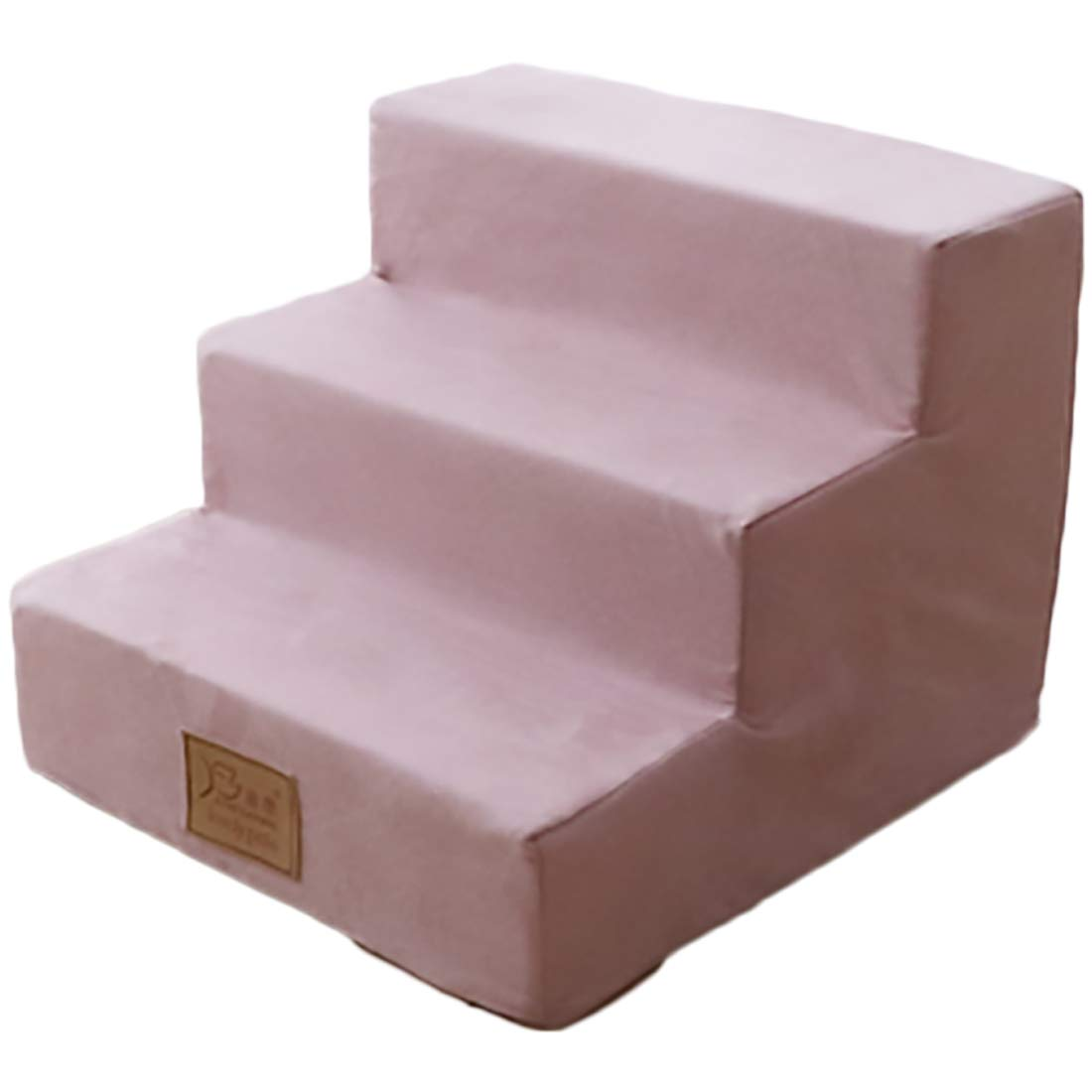 Dog Steps for High Bed Pet Stairs Dog Stairs Going Up to The Climb Ladder Dog Mat Sponge Mats Suede Family Favorite Pink
