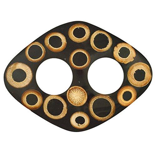 1 World Sarongs Sujetadores de Pareo con Incrustaciones de Bambú Rectangle