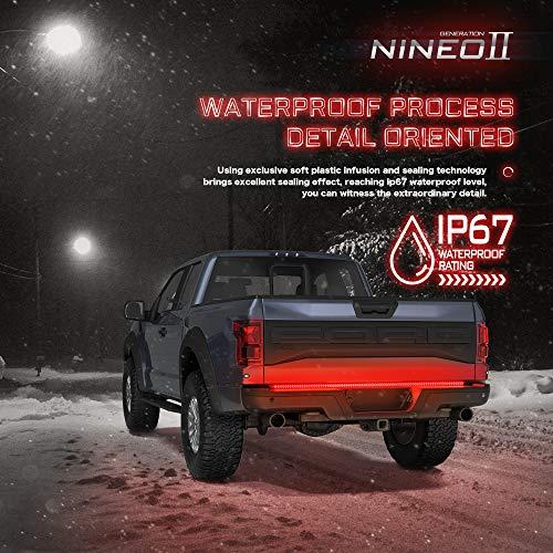 No Drill Install NINEO 60 LED Tailgate Light Bar Strip w//Arrow Design Turn Signal Brake Running compatible Pickup Truck Trailer SUV RV VAN Car Towing Vehicle
