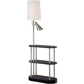 Ore International Th 2000ch Floor Lamp End Table Magazine Rack Combination Brass Amazon Com