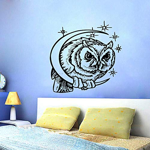 Wall Vinyl Sticker Decals Mural Design Art Angry Owl Bird Flying Predator #735