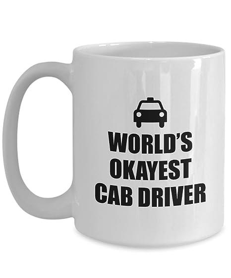 b25baba2fd Amazon.com  Funny Taxi Driver Gift - Cab Driver Mug - World s ...