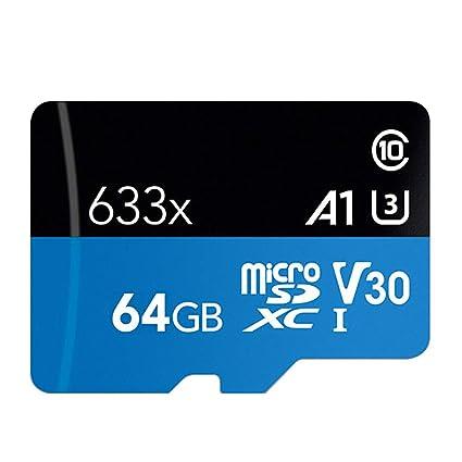 H&T Tarjeta Micro SD Clase 10 Tarjeta de Memoria, Velocidad de ...