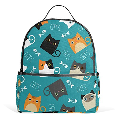 My Daily Cute Cat Backpack School Bookbag Casual Daypack