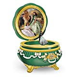 GONE WITH THE WIND 75th Anniversary Limoges-Style Heirloom Porcelain Music Box by The Bradford Exchange