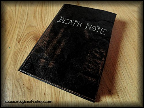 Replica Death Note notebook - book with fake parchment pages with all rules inside by MagiCraftShop UK