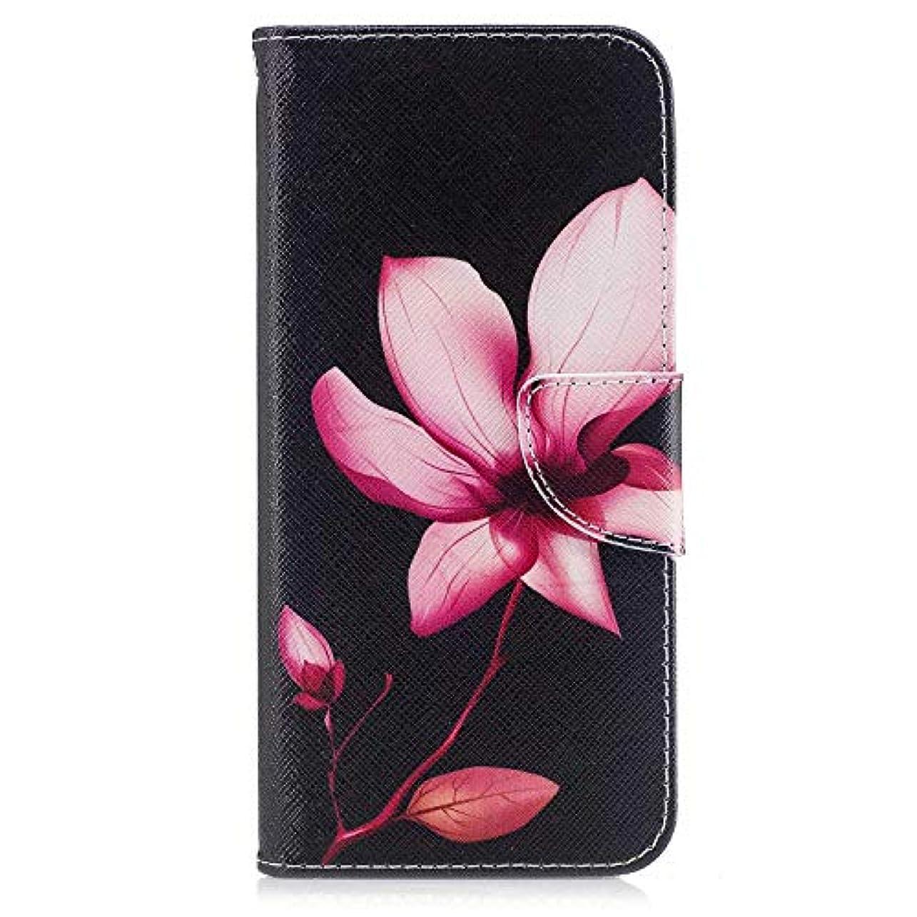 コンパス面倒小数OMATENTI Galaxy S8 Plus ケース, ファッション人気 PUレザー 手帳 軽量 電話ケース 耐衝撃性 落下防止 薄型 スマホケースザー 付きスタンド機能, マグネット開閉式 そしてカード収納 Galaxy S8 Plus 用 Case Cover, 花