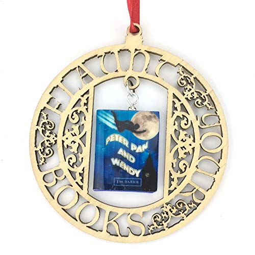 (PETER PAN and WENDY J. M. Barrie Clay Mini Book FRAMED Ornament by Book)