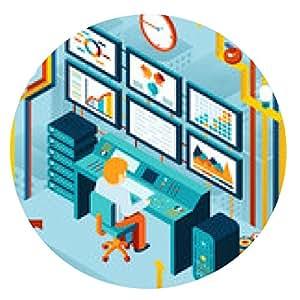 alfombrilla de ratón Análisis financieros y análisis de negocio - ronda - 20cm