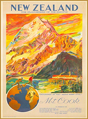 Used, MAGNET New Zealand Mt. Cook Playground Vintage Travel for sale  Delivered anywhere in USA