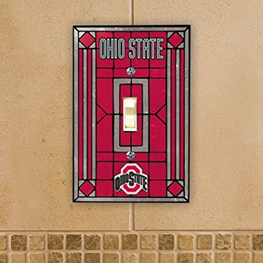 Ohio State Buckeyes - NCAA Art Glass Single Switch Plate Cover