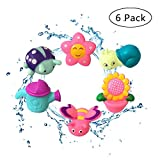 Best Baby Einstein Baby Tub Toys - JollySweets 6PCS Rubber Bath Toys, Squirt Squeeze Bath Review